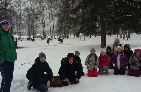 3 февраля 2019 года ребята из дружины свщмч. Георгия Извекова Донского храма г. Мытищи (Перловка) отправились в поход на биосферную станцию заповедника Лосиный остров. На лыжах, лесом мы дошли до ворот биостанции